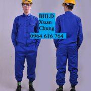 Quần áo bảo hộ xanh công nhân