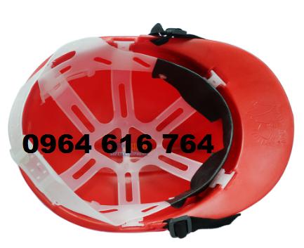 Mũ công trường màu đỏ loại 1