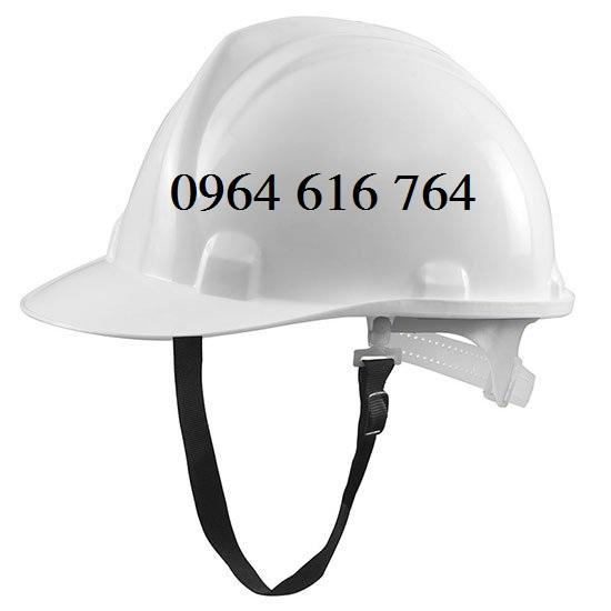 mũ bảo hộ công trường trắng