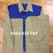 Quần áo bảo hộ phối màu xanh