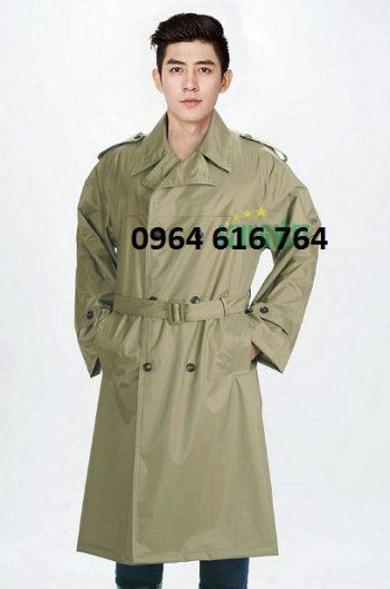 Áo mưa măng tô sỹ quan quân đội