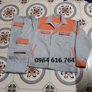 Quần áo bảo hộ phối màu cam