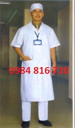 Áo blouse bác sĩ nam cộc tay