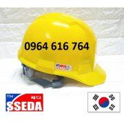 Mũ bảo hộ SSEDA Hàn Quốc – Màu Vàng