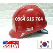 Mũ bảo hộ SSEDA Hàn Quốc – Màu Đỏ
