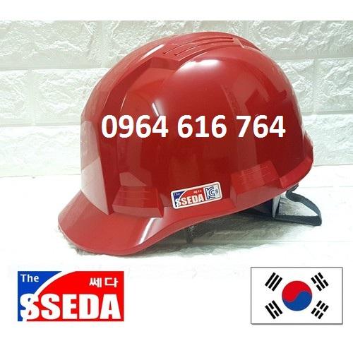 Mũ bảo hộ SSEDA Hàn Quốc - Màu Đỏ