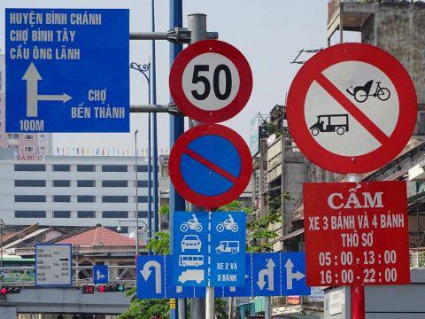 Các loại biển bao giao thông đường bộ Việt Nam 2018