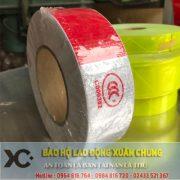 XC09 – Cuộn dán phản quang trắng đỏ